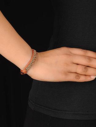 Orange-Gold Zardosi Bracelet