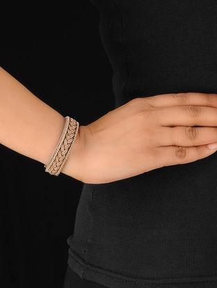 Taupe-Silver Zardosi Bracelet