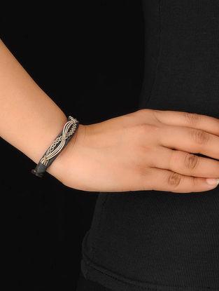 Black-Silver Zardosi Bracelet