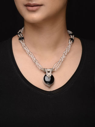 Black Onyx Silver Necklace