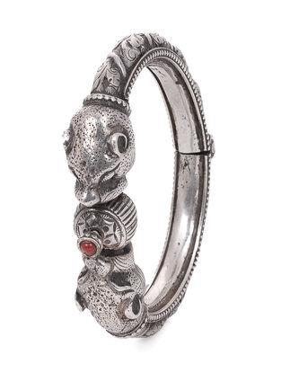 Red Tribal Silver Bangle (Bangle Size -2/8)