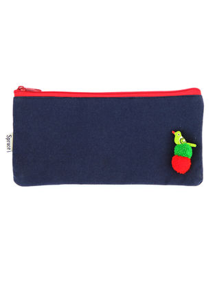 Blue Handcrafted Cotton Pouch