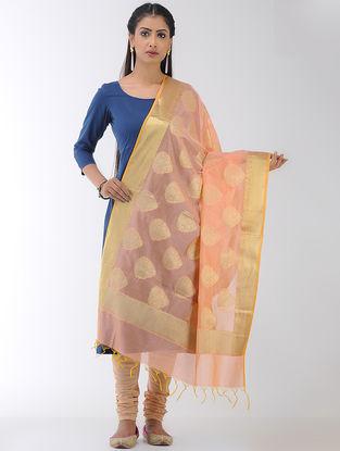 Peach Benarasi Art Silk-Cotton Dupatta