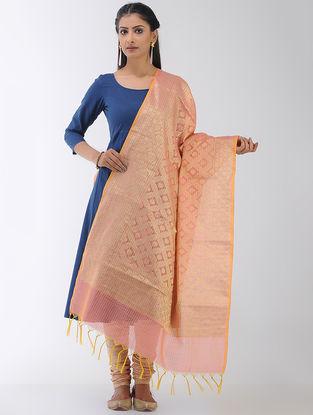 Pink Benarasi Art Silk-Cotton Dupatta