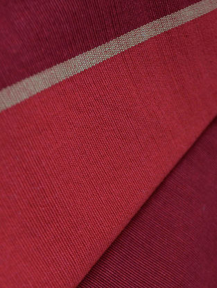 Claret- Stripe Cotton Fabric