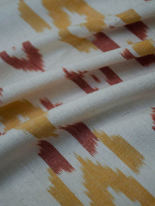 Ochre-Rust Cotton Ikat Elan Fabric