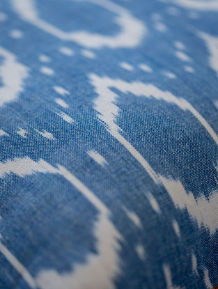 Blue Cotton Ikat Elipse Fabric