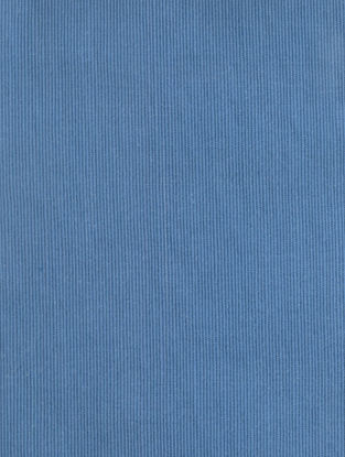 Blue Cotton Bamboo Regular Solid Fabric