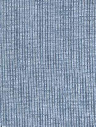 Blue-White Cotton Bamboo Two Tone Fabric