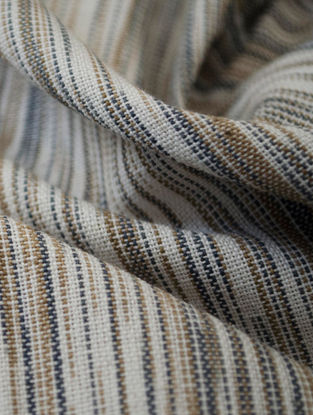Grey-Beige Cotton Ikat Mirage Fabric