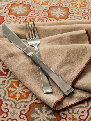 Beige Linen Napkin( Set of 6) 18.5in X 18.5in