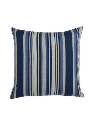 Blue Striped Cotton Cushion Cover 16in X 16in
