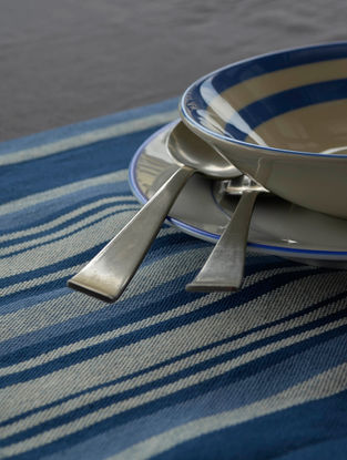 Blue Striped Table Mat (Set of 6) 18.5in X 13.5in