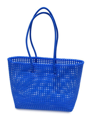Blue Plastic Shopping Bag