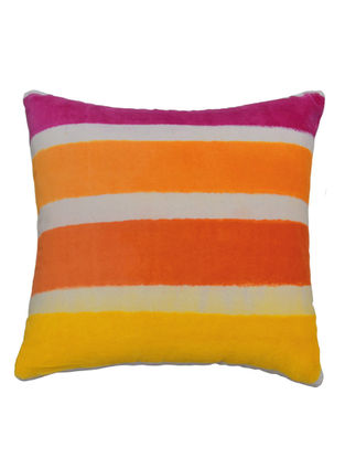 Tie & Dye Striped Cushion Cover 16in X 16in by YAMINI