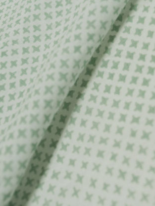 Mist Green Cotton Mesh Design Fabric by YAMINI