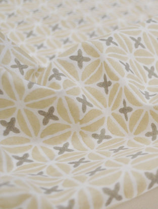 Straw Cotton Petal Design Fabric by YAMINI