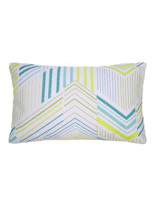 Triangular Lines Embroidered Cushion Cover 20in x 12in
