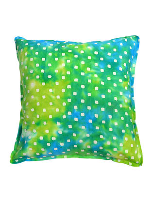 Green Square Blocks Batik Cushion Cover 16in x 16in