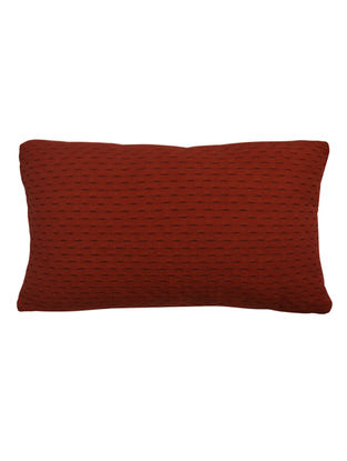 Maroon Solid Cotton Cushion Cover 19.6in x 12in