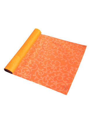 Orange Cotton All Over Printed Batik Trellis Placemat (Set of 6) 19in x 13in