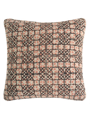 Geometric Pigment Overlap Block Printed Cushion Cover By Yamini
