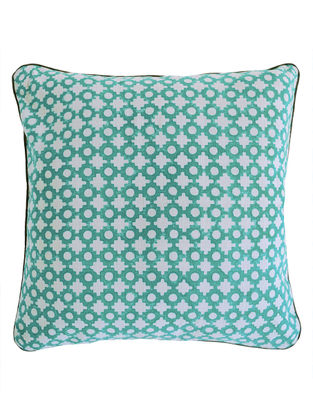 Pigment Geometric Dots Block Printed Cushion Cover By Yamini