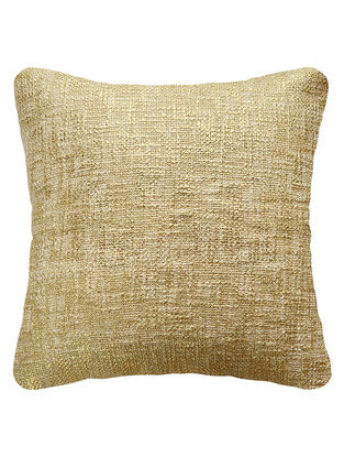 Gold Cotton Fancy Yarn Cushion Cover 16in x 15.5in