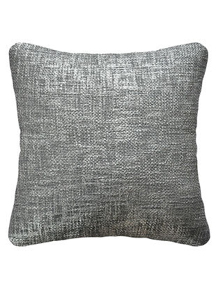 Silver Cotton Fancy Yarn Cushion Cover 16in x 15.5in
