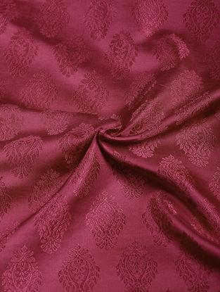 Red Benarasi Katan Silk Fabric