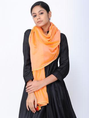 Orange Chanderi Stole with Tassels