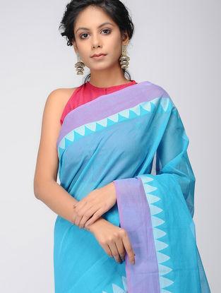 Blue-Purple Mangalgiri Cotton Saree