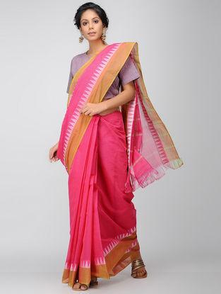 Pink-Orange Mangalgiri Cotton Saree