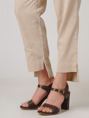 Pink Elasticated Waist Cotton Pants