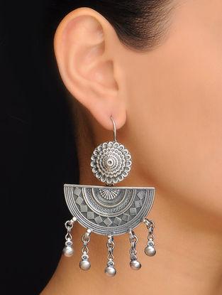 Pair of Ethno Silver Earrings