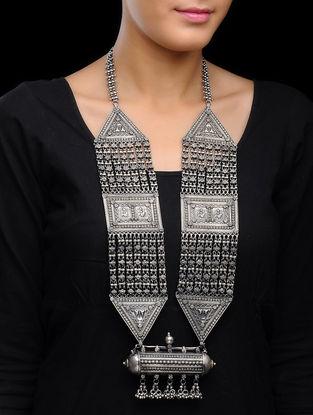 Peacock Silver Necklace