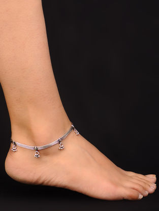 Classic Silver Anklet - Set of 2
