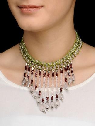 Peridot Choker Silver Necklace