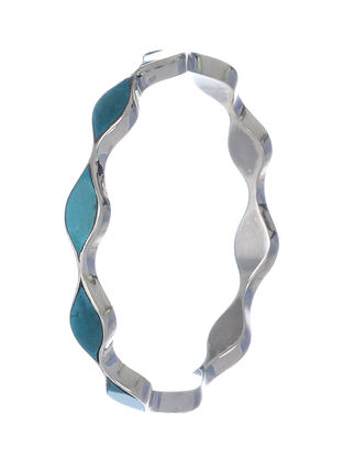 Turquoise Silver Bangle(Bangle Size - 2/6)