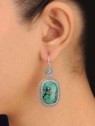 Pair of Turquiose Silver Earrings