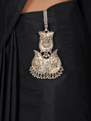Goddess Lakshami Silver Chabbi Challa