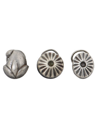 Silver Nose Pins - Set of 3