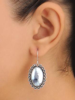 Pair of Drop Silver Earrings