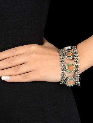 Lord Ganesha Silver Bracelet