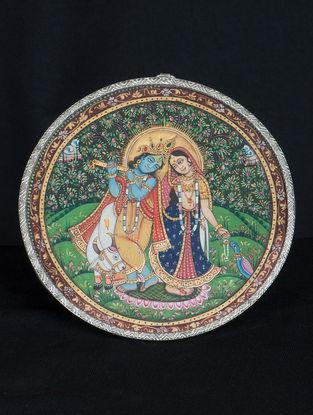 Radha-Krishna Ji Silver Frame