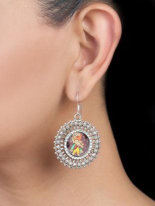 Lord Ganesha Silver Earrings