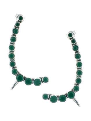 Emerald Silver Earcuff