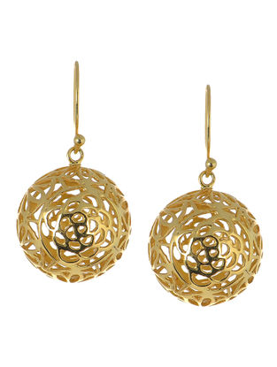 Jali Ball Silver Earrings