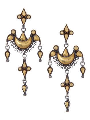 Dual Tone Ethno Silver Earrings by Silver Streak
