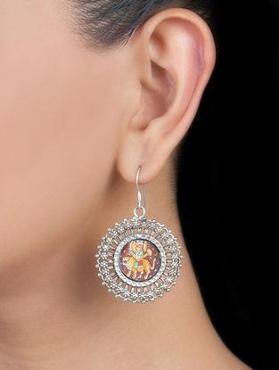 Goddess Durga Silver Earrings